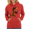 Awesome Funny Dachshund Dog at the Beach Womens Hoodie
