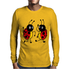 Awesome Funny Dancing Ladybugs Art Mens Long Sleeve T-Shirt