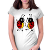 Awesome Funny Dancing Ladybugs Art Womens Fitted T-Shirt