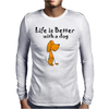 Awesome Funny Dog Love Cartoon Mens Long Sleeve T-Shirt