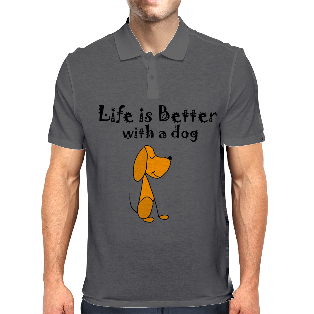 Awesome Funny Dog Love Cartoon Mens Polo