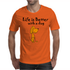 Awesome Funny Dog Love Cartoon Mens T-Shirt