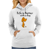 Awesome Funny Dog Love Cartoon Womens Hoodie