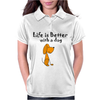Awesome Funny Dog Love Cartoon Womens Polo
