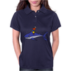 Awesome Funny Duck Riding Shark Womens Polo