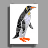 Awesome Funny Emperor Penguin Art Poster Print (Portrait)
