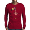 Awesome Funny Flamingo Wearing Sunglasses Mens Long Sleeve T-Shirt