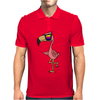 Awesome Funny Flamingo Wearing Sunglasses Mens Polo