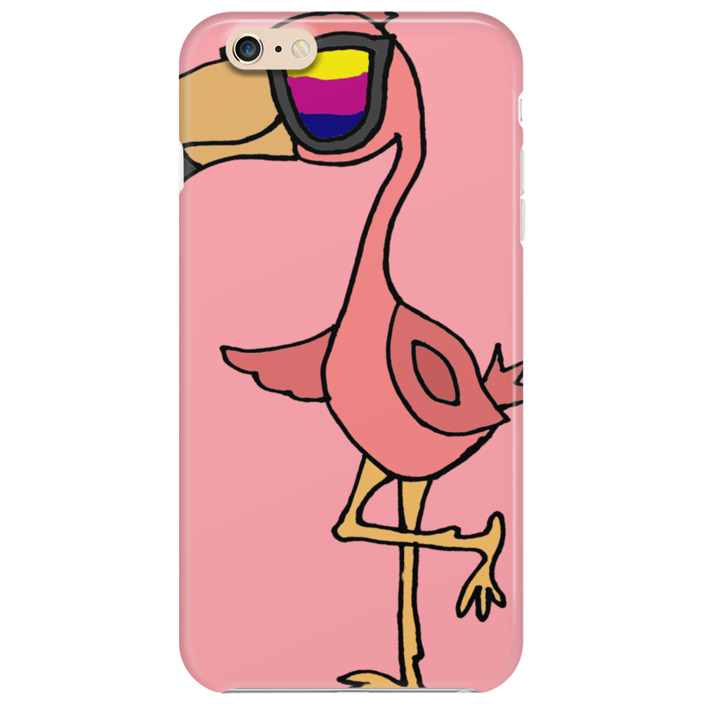 Awesome Funny Flamingo Wearing Sunglasses Phone Case