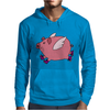Awesome Funny Flying Pig with Purple High Top Sneakers Mens Hoodie