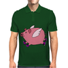 Awesome Funny Flying Pig with Purple High Top Sneakers Mens Polo