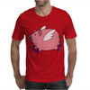 Awesome Funny Flying Pig with Purple High Top Sneakers Mens T-Shirt