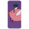 Awesome Funny Flying Pig with Purple High Top Sneakers Phone Case