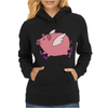 Awesome Funny Flying Pig with Purple High Top Sneakers Womens Hoodie