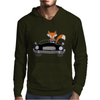 Awesome Funny Foxy Red Fox driving Black Convertible Mens Hoodie