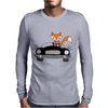 Awesome Funny Foxy Red Fox driving Black Convertible Mens Long Sleeve T-Shirt