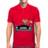 Awesome Funny Foxy Red Fox driving Black Convertible Mens Polo