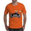 Awesome Funny Foxy Red Fox driving Black Convertible Mens T-Shirt