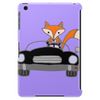 Awesome Funny Foxy Red Fox driving Black Convertible Tablet