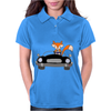 Awesome Funny Foxy Red Fox driving Black Convertible Womens Polo