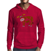 Awesome Funny Funky Brown and White Cow Art Mens Hoodie