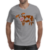 Awesome Funny Funky Brown and White Cow Art Mens T-Shirt