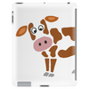 Awesome Funny Funky Brown and White Cow Art Tablet