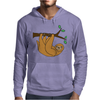 Awesome Funny Funky Sloth Cartoon Mens Hoodie