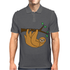 Awesome Funny Funky Sloth Cartoon Mens Polo