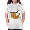 Awesome Funny Funky Sloth Cartoon Womens Polo