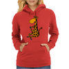 Awesome Funny Giraffe doing Yoga Womens Hoodie