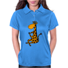 Awesome Funny Giraffe doing Yoga Womens Polo