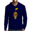 Awesome Funny Giraffe in Ice Cream Cone Mens Hoodie