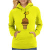 Awesome Funny Giraffe in Ice Cream Cone Womens Hoodie