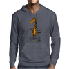 Awesome Funny Giraffe on Hoverboard Art Mens Hoodie