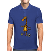 Awesome Funny Giraffe on Hoverboard Art Mens Polo