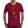 Awesome Funny Giraffe on Hoverboard Art Mens T-Shirt