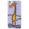 Awesome Funny Giraffe on Hoverboard Art Phone Case