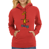 Awesome Funny Giraffe on Hoverboard Art Womens Hoodie