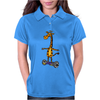 Awesome Funny Giraffe on Hoverboard Art Womens Polo
