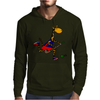 Awesome Funny Giraffe Playing Field Hockey Mens Hoodie