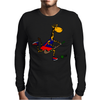 Awesome Funny Giraffe Playing Field Hockey Mens Long Sleeve T-Shirt