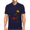 Awesome Funny Giraffe Playing Field Hockey Mens Polo
