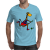 Awesome Funny Giraffe Playing Field Hockey Mens T-Shirt