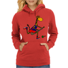 Awesome Funny Giraffe Playing Field Hockey Womens Hoodie