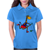 Awesome Funny Giraffe Playing Field Hockey Womens Polo