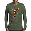 Awesome Funny Giraffe Wearing Sunglasses Abstract Art Mens Long Sleeve T-Shirt