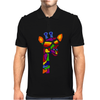 Awesome Funny Giraffe Wearing Sunglasses Abstract Art Mens Polo