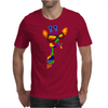 Awesome Funny Giraffe Wearing Sunglasses Abstract Art Mens T-Shirt