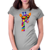 Awesome Funny Giraffe Wearing Sunglasses Abstract Art Womens Fitted T-Shirt